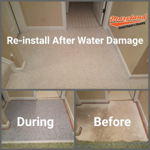 Carpet Reinstallation after Flooding in Maryland